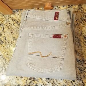 7 for all mankind tan jeans, 29 / 30 GUC